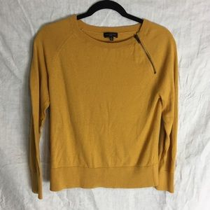 The Limited zippered sweater mustard yellow Small